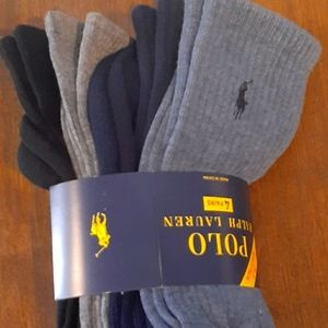 🐎New) 4 Pack multi color polo Ralph Lauren socks